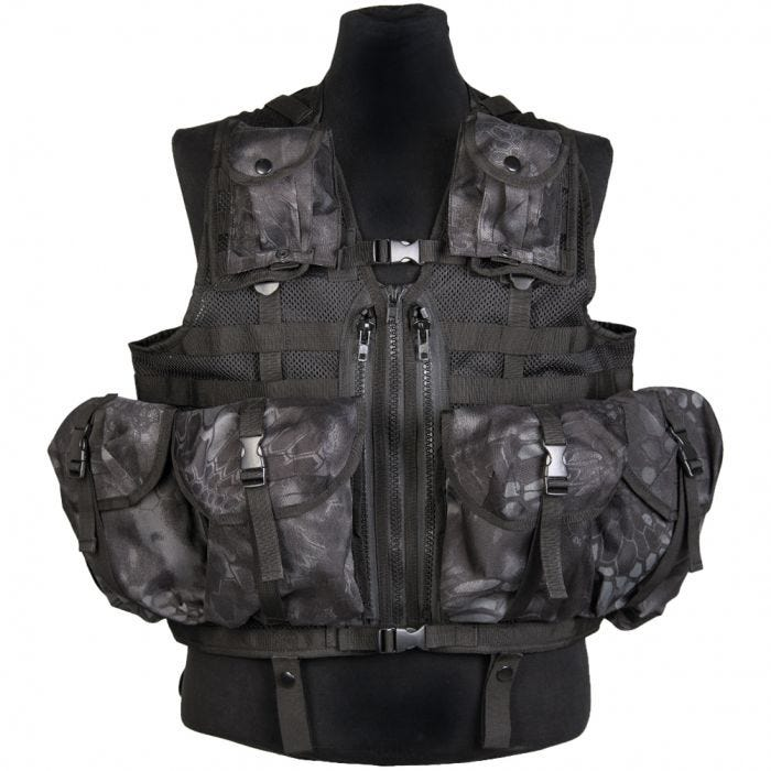 Mil-Tec gilet tattico a sistema modulare in Mandra Night