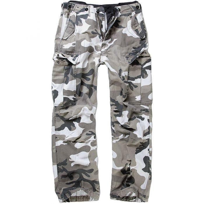 Brandit Pure Vintage Cargo Pant-grigio-in look militare Cargo Pant Pant Merce Nuova
