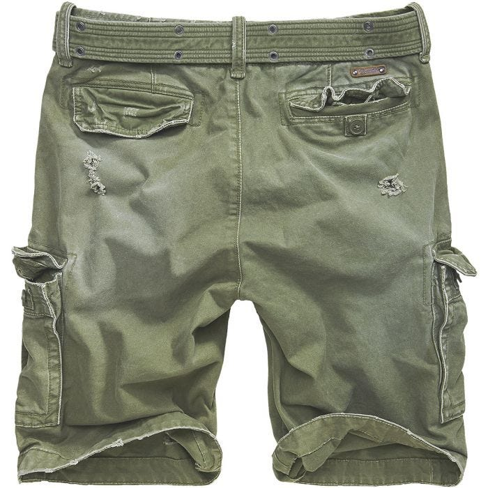 Brandit Shorts Shell Valley Heavy Vintage in verde oliva