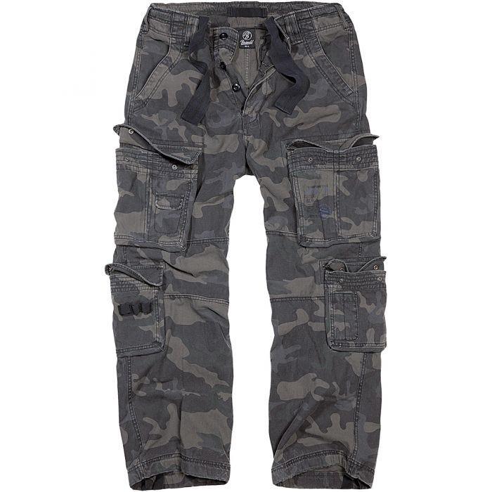 Brandit pantaloni Pure Vintage in Dark Camo