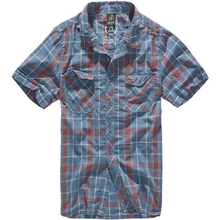 Brandit camicia Roadstar in rosso/blu