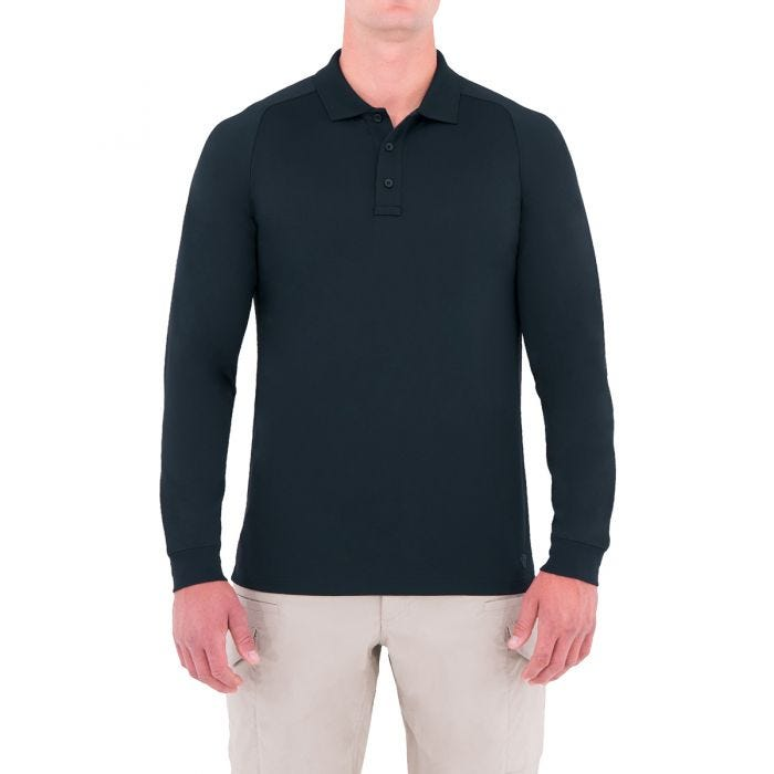 First Tactical polo Performance a manica lunga uomo in Midnight Navy