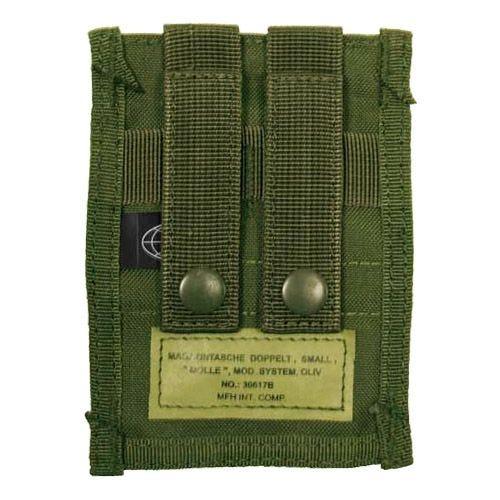 MFH custodia doppia small portacaricatore 9 mm MOLLE in verde oliva
