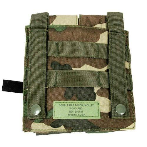 MFH custodia doppia portacaricatore M4/M16 MOLLE in Woodland