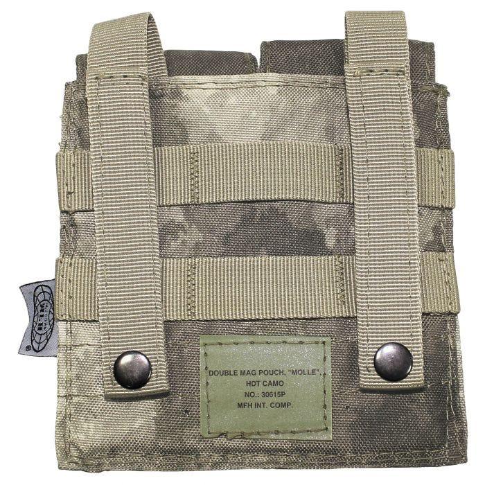 MFH custodia doppia portacaricatore M4/M16 MOLLE in HDT Camo AU