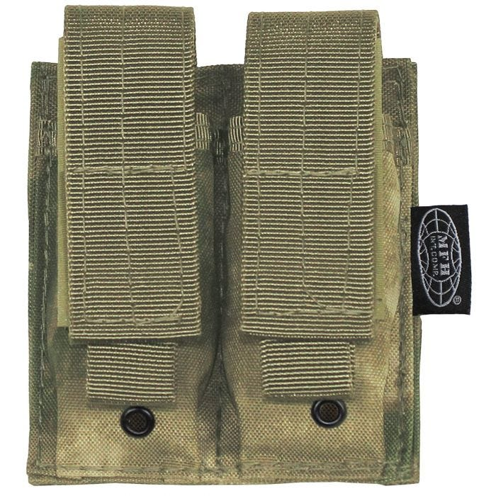 MFH custodia doppia small portacaricatore 9 mm MOLLE in HDT Camo FG