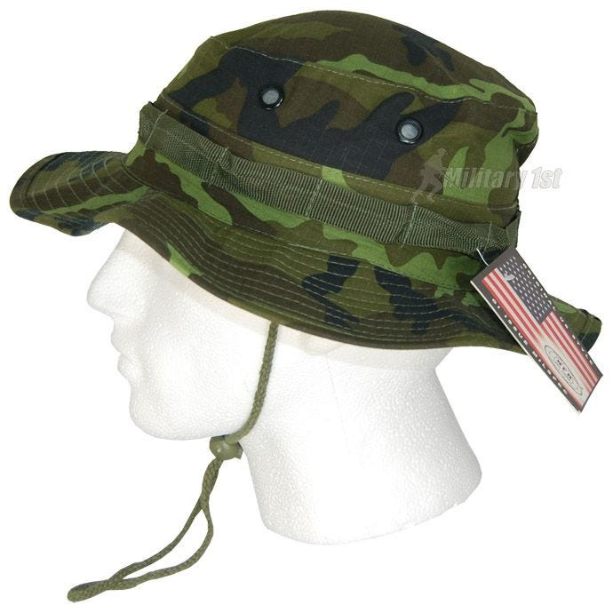 MFH cappello boonie GI in Ripstop Czech Woodland