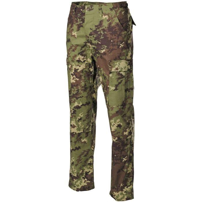 MFH pantaloni BDU da combattimento in Ripstop Vegetato Woodland
