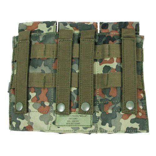 MFH custodia tripla portacaricatore M4/M16 MOLLE in Flecktran