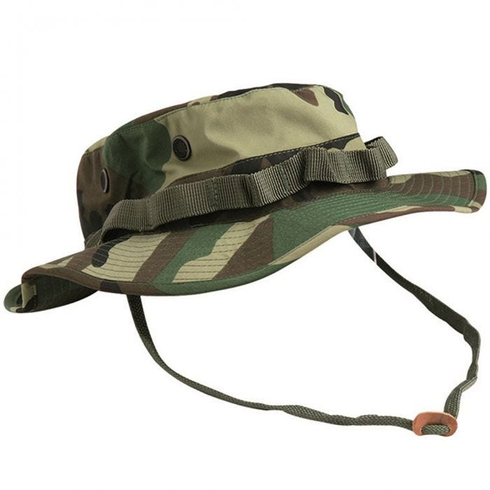 Teesar boonie hat in trilaminato US GI in Woodland