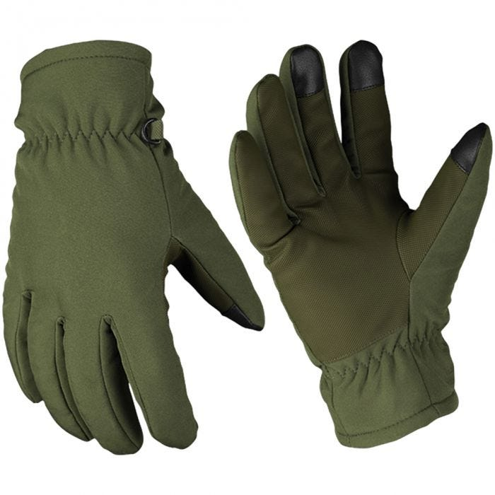 Mil-Tec guanti Softshell Thinsulate in verde oliva