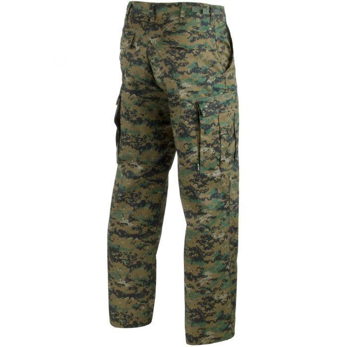 Mil-Tec pantaloni BDU Combat in Digital Woodland
