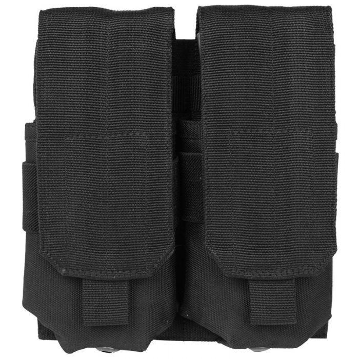 Mil-Tec custodia doppia portacaricatore M4/M16 MOLLE in nero