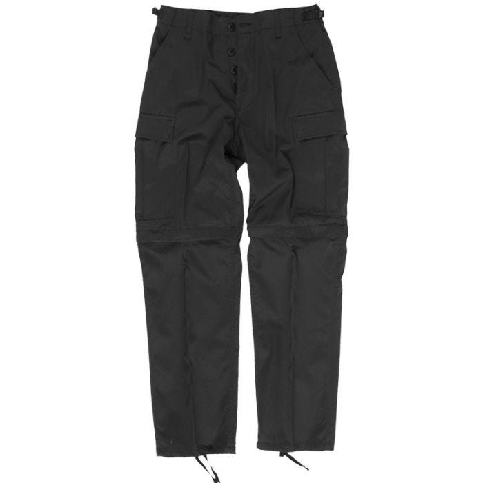 Mil-Tec pantaloni Zip-Off Combat in nero