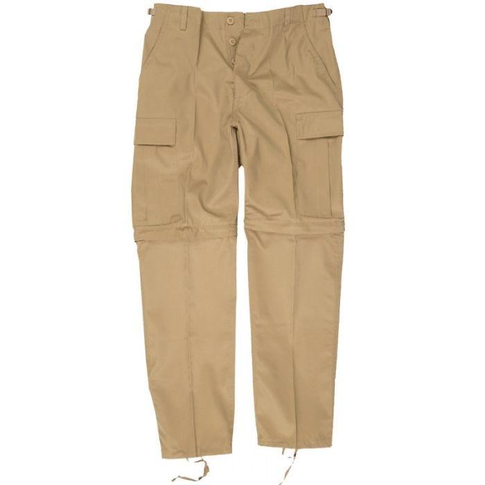 Mil-Tec pantaloni Zip-Off Combat in cachi
