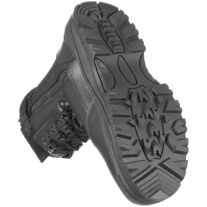 Mil-Tec stivali tattici con zip laterale in nero