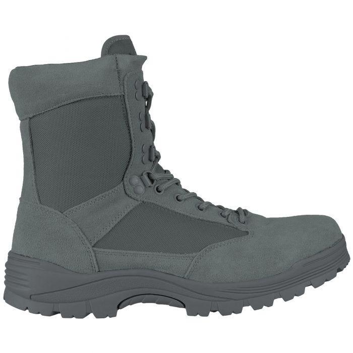 Mil-Tec stivali tattici con zip laterale in Urban Grey
