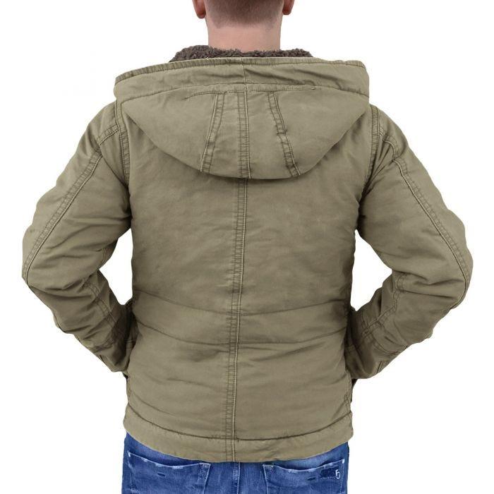 Surplus giacca da pioggia Supreme vintage in verde oliva