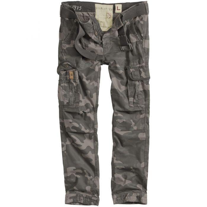 Surplus pantaloni Premium Slimmy in Black Camo
