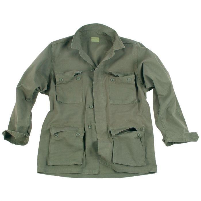 Teesar camicia BDU in Ripstop prelavato in verde oliva