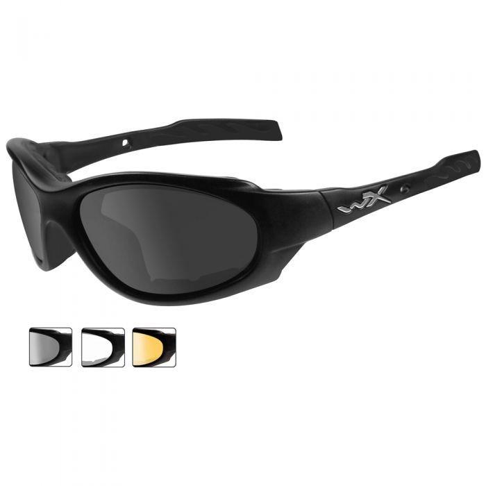 Wiley X occhiali XL-1 Advanced lenti fumé grigie + lenti trasparenti + lenti ruggine chiaro e struttura in nero opaco