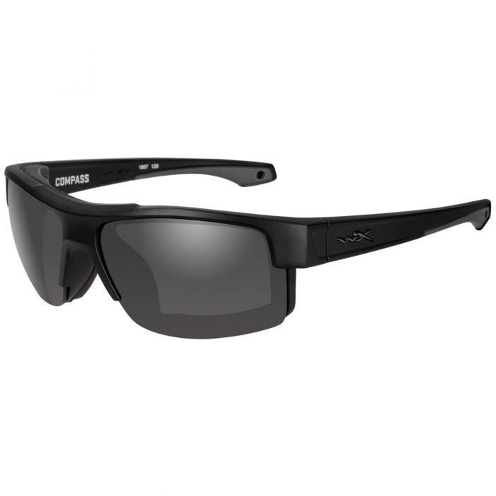 Wiley X occhiali WX Compass con lenti fumé grigie e struttura in nero opaco