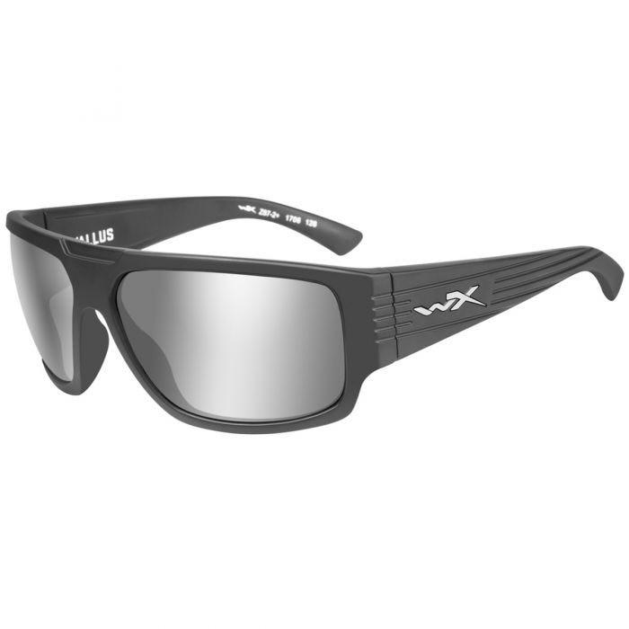 Wiley X WX Vallus Glasses - Grey Silver Flash Lens / Matte Graphite Frame