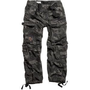 Surplus pantaloni vintage Airborne in Black Camo