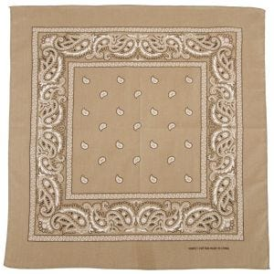 MFH bandana in cotone beige