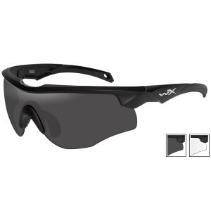 Wiley X occhiali Rogue con lenti fumé grigie + lenti trasparenti e struttura in nero opaco