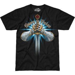 7.62 Design T-Shirt Sworn To Valor in nero