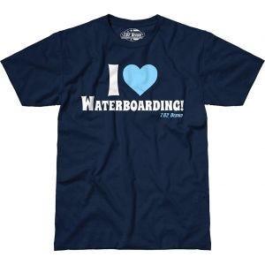 7.62 Design I Love Waterboarding Maglietta Navy