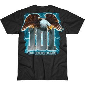 7.62 Design T-Shirt Army 101st Airborne Screaming Eagle Battlespace in nero