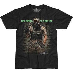 7.62 Design T-Shirt Being Prepared in nero