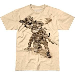 7.62 Design T-Shirt Compromised Extract in Sand