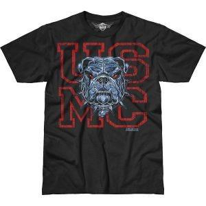7.62 Design T-Shirt USMC Dress Blue Bulldog Battlespace in nero