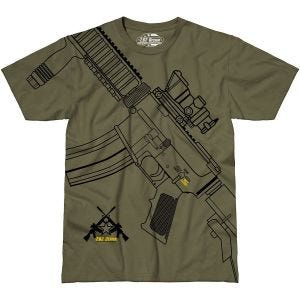 7.62 Design T-Shirt Get Some in Military Green