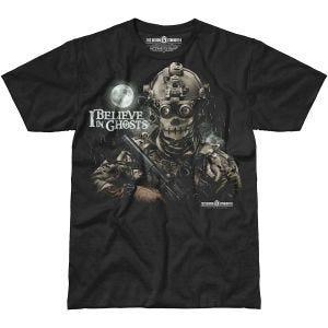 7.62 Design T-Shirt I Believe In Ghosts in nero