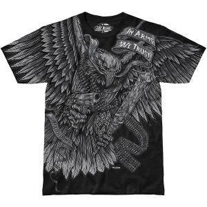 7.62 Design T-Shirt In Arms We Trust in nero