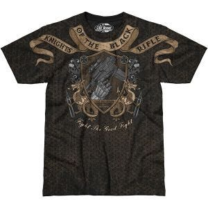 7.62 Design T-Shirt Knights Of The Black Rifle in nero