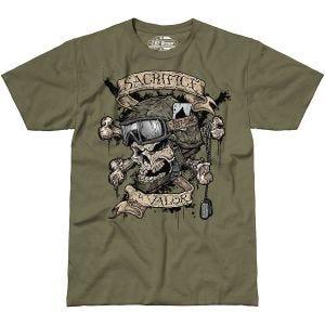 7.62 Design T-Shirt Sacrifice & Valor in Military Green