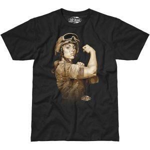 7.62 Design T-Shirt Sergeant Sara in nero