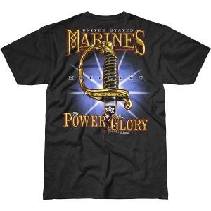 7.62 Design T-Shirt USMC Power & Glory Battlespace in nero