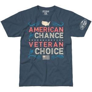 7.62 Design T-Shirt Veteran By Choice American in Indigo