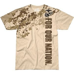 7.62 Design T-Shirt USMC For Our Nation in Sand