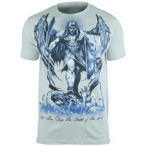7.62 Design T-Shirt St Michael Fight This Day in Pewter