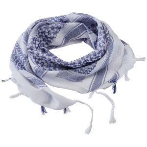 Brandit sciarpa/kefiah in blu/bianco