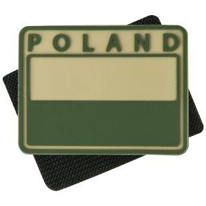 Helikon confezione da 2 patch Polish Subdued Flag con scritta POLAND in cachi