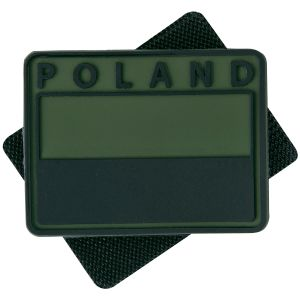 Helikon confezione da 2 patch Polish Subdued Flag con scritta POLAND in Olive Green