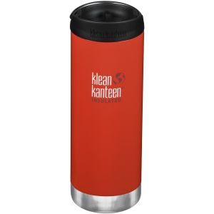 Klean Kanteen borraccia termica TKWide con tappo tazza caffè takeaway 473ml in Post Box Red
